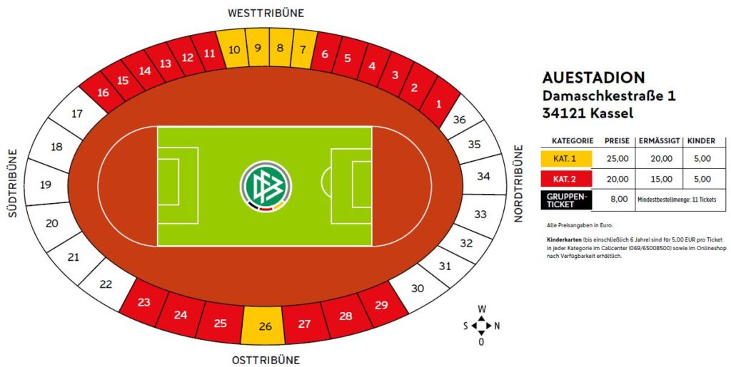 Stadionplan Auestadion Kassel - Fan Point Kassel